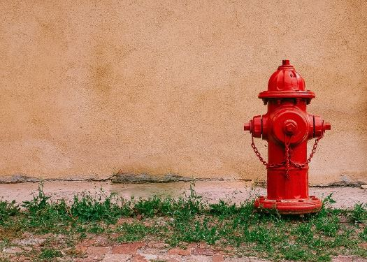 Red fire-hydrant