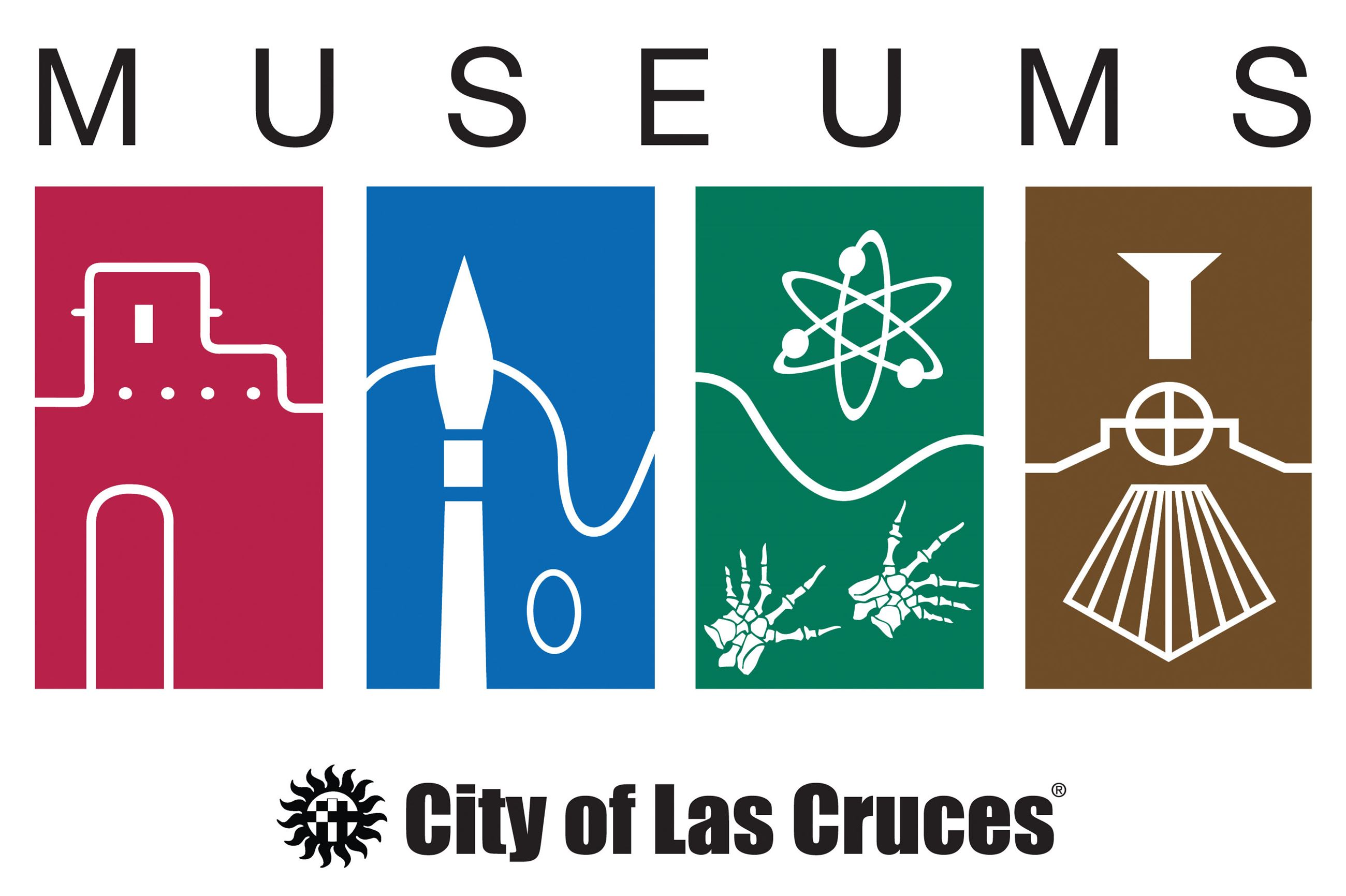 Museum system logo consist of four boxes in red, blue, green and brown